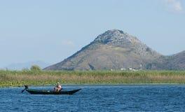 Eenzame visser Stock Foto