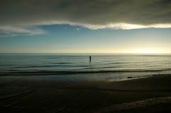 Eenzame visser Stock Fotografie