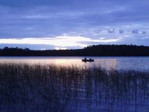 Eenzame vissers Stock Fotografie