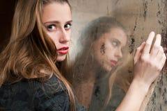 Eenzame vrouw Royalty-vrije Stock Fotografie