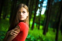 Eenzame vrouw Stock Foto