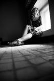 Eenzame vrouw Royalty-vrije Stock Foto's