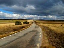 Eenzame weg Stock Foto
