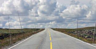 Eenzame weg Stock Foto's