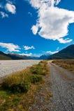 Eenzame weg in Zuideneiland Royalty-vrije Stock Foto's