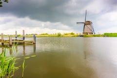 Eenzame Windmolen Stock Foto