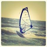 Eenzame Windsurfer Royalty-vrije Stock Afbeelding