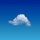 Eenzame wolk Royalty-vrije Stock Fotografie