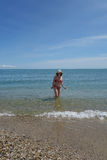 Eenzame Zwemmer Royalty-vrije Stock Foto