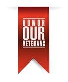 eer onze veteranen die tekenillustratie hangen stock illustratie