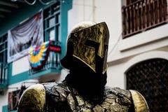 Eerbied voor een gouden ridder royalty-vrije stock foto's