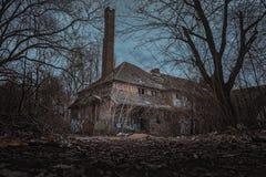 Eerie abandoned building