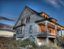 Eerie Abandoned House Stock Photo