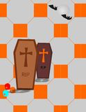 Eerie cemetery Stock Image