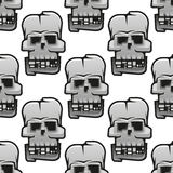Eerie cracked skulls seamless pattern Royalty Free Stock Photography