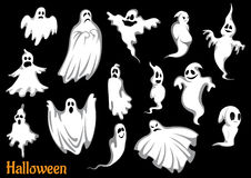 Eerie flying Halloween ghosts and monsters Royalty Free Stock Image