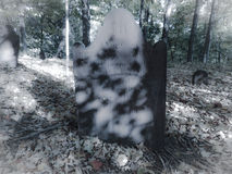 Eerie grave stone. Old grave stone of man who died from black plague, very eerie Stock Photos