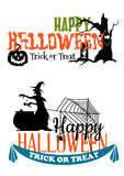 Eerie Halloween themed banners Royalty Free Stock Image