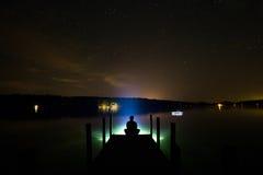 Eerie Lake Lights stock image