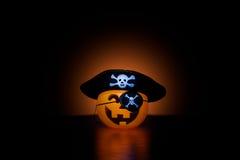 Eerie Pirate O'Lantern Royalty Free Stock Image