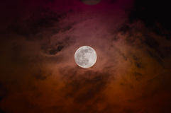 Eerie Red Moon Stock Image