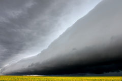 Eerie Shelf cloud in Illinois Stock Image