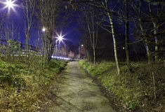 Eerie Urban Footpath stock image