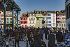 Eerlijk Ham Bayonne France Stock Foto's