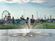 Eerlijke fontein bij de markt van de staat Royalty-vrije Stock Fotografie