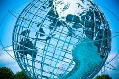 Eerlijke Unisphere van de wereld Stock Afbeelding