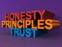 Eerlijkheid, principes en vertrouwen Stock Afbeeldingen