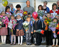 Eerste bezoek in de school - 1 September, 2009 Royalty-vrije Stock Afbeeldingen