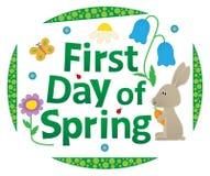 Eerste dag van de lente royalty-vrije stock fotografie