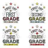 Eerste Dag van Schooltekens Royalty-vrije Stock Fotografie