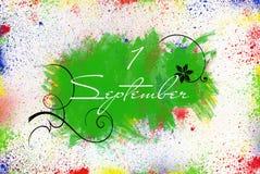 Eerste dag van september Royalty-vrije Stock Afbeelding