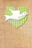 Eerste de kerkgemeenschapkaart, duif en hart van het land Stock Foto's