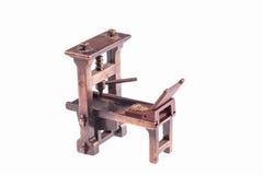 Eerste drukpers door Gutenberg stock foto's