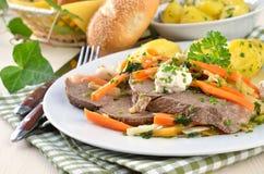 Eerste gekookt rundvlees Stock Fotografie