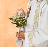 Eerste Heilige Communie Stock Foto