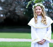 Eerste Heilige Communie - portret Royalty-vrije Stock Afbeeldingen