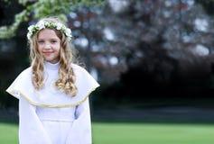 Eerste Heilige Communie - portret Royalty-vrije Stock Foto