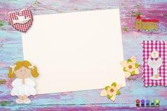 Eerste Heilige Communieachtergrond voor meisje stock illustratie