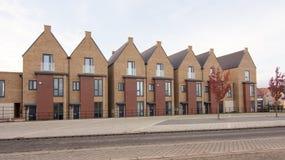 Eerste huizen bij het Noorden Stowe Cambridgeshire worden voltooid die Royalty-vrije Stock Afbeeldingen