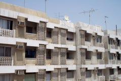 Eerste Huizen in Doubai stock foto