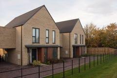 Eerste huizen in het nu bezette Noorden Stowe Cambridgeshire Royalty-vrije Stock Fotografie