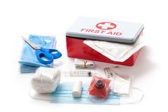 Eerste hulpuitrusting - Voorraadfoto Stock Foto