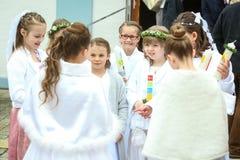 Eerste kerkgemeenschap Royalty-vrije Stock Foto's