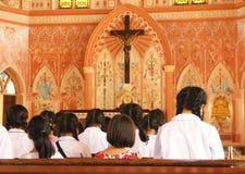 Eerste kerkgemeenschap - Voorraadbeeld Royalty-vrije Stock Foto's