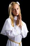 Eerste kerkgemeenschapmeisje Royalty-vrije Stock Foto's