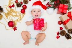 Eerste Kerstmis van de baby Royalty-vrije Stock Foto